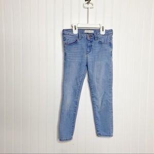 Zara Girls Light Wash Skinny Jeans Size 7